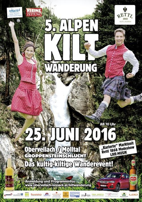 5 Alpenkilt Wanderung Plakat 2016