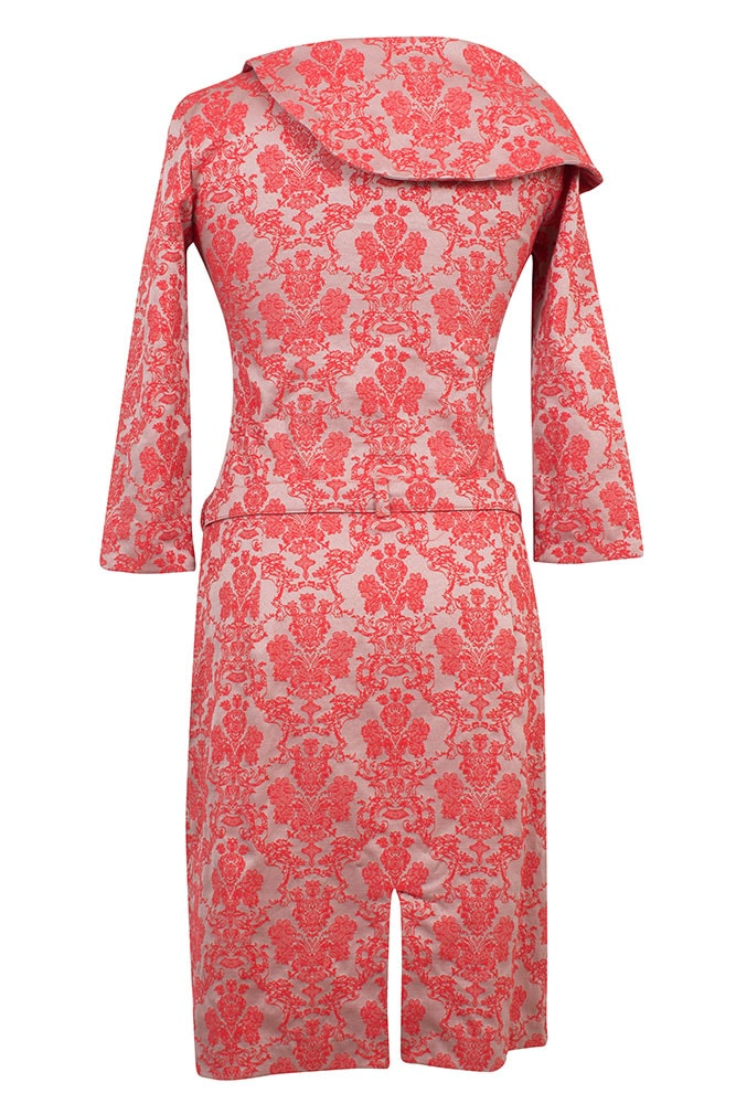 Damen Kleid Carol Kurz Stretchbrokat Zen Rot Rettl 1868