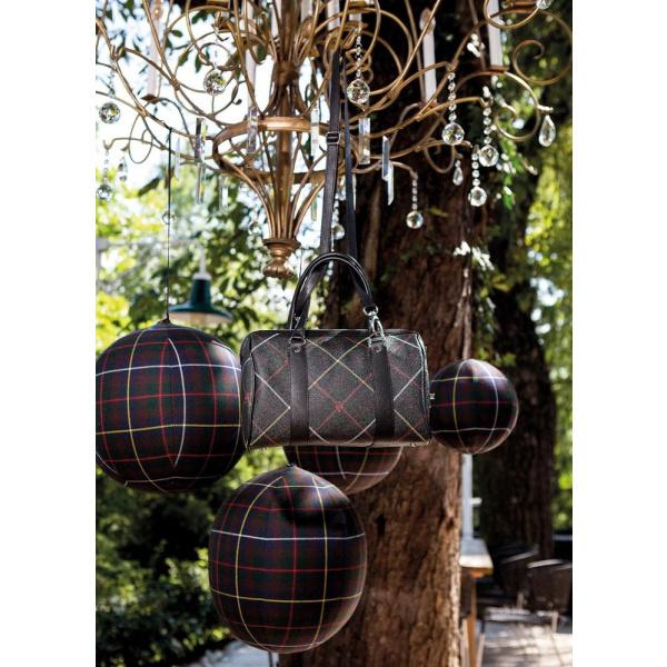 """Tasche """"Bowling Bag"""" in Leinen Print Kärnten Karo € 420,-"""