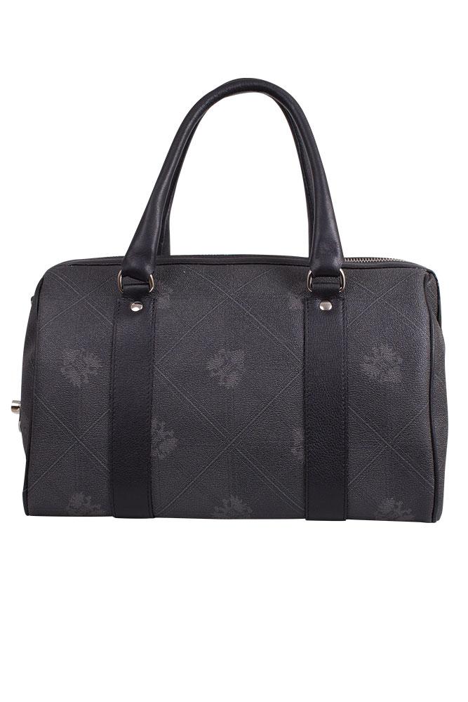 Rettl Damen Tasche Bowling Bag Canvas geprintet Anniversary Karo