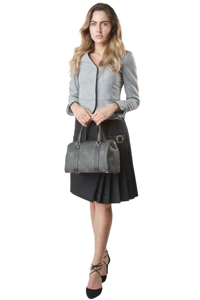 Rettl-Damen Jacke Glamis-Kilt Maria Hipps-Tasche Bowling Bag