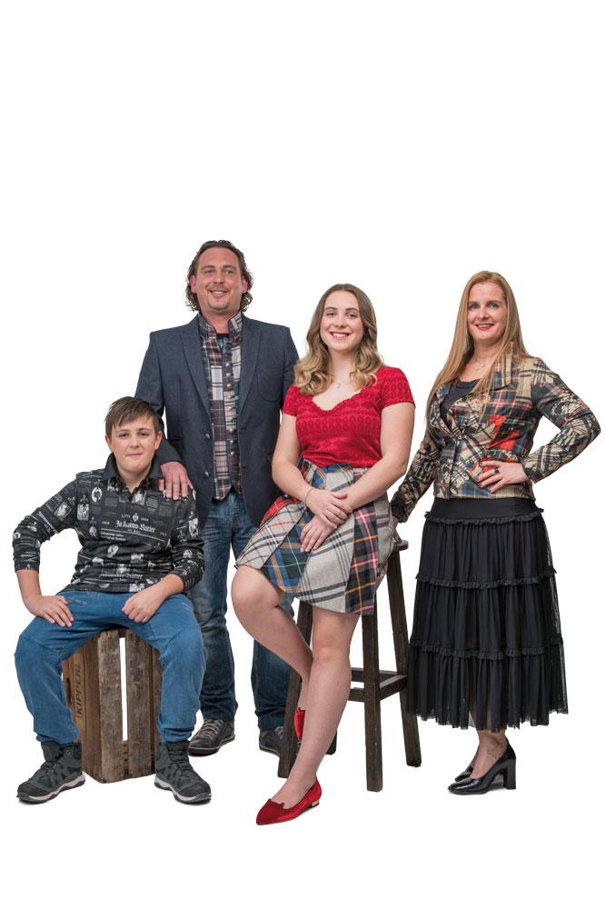 Ben, Alexander, Leonie und Melanie Rabl