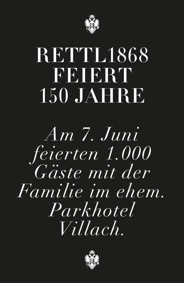 Rettl 1868 feiert 150 Jahre