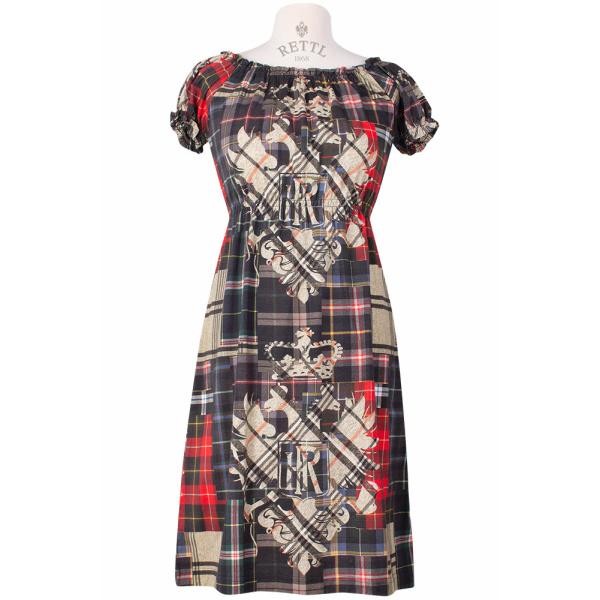Kleid Adlerpatch im Carmen-Ausschnitt Jenna vorne