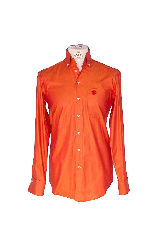 Rettl Herren-Hemd-BW-Oliver1-OrangeHouse-Check-vorne