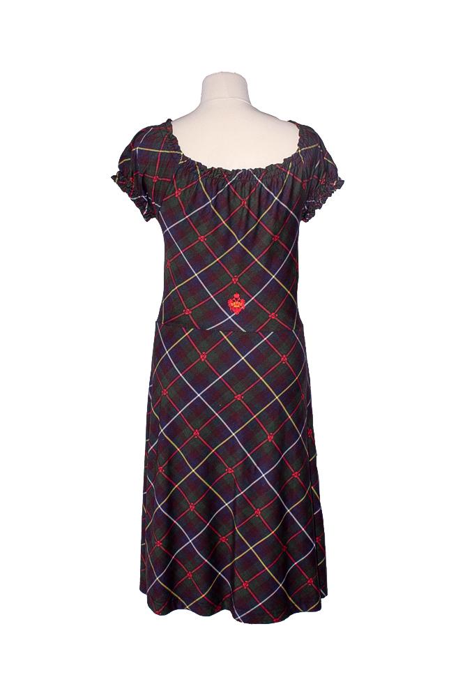 Rettl-Damen-Kleid-Efia-hinten-kärnten-karo