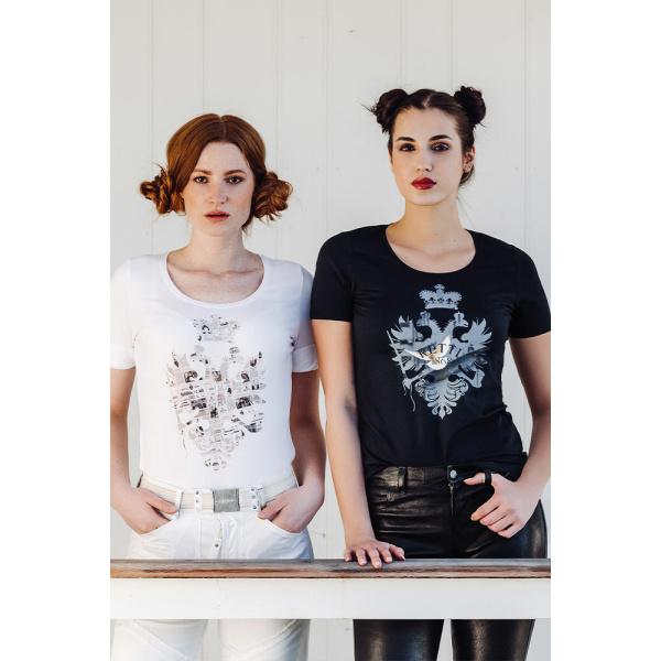 "Damen Art-Shirt Print ""Freedom"" und ""History"" shooting"