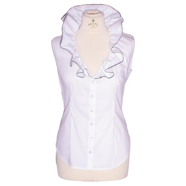 Rettl-Damen-Bluse-Laetiza-kurzarm-weiss vorne