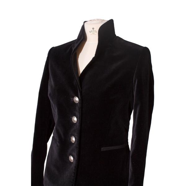 Rettl-Damen-Jacke-Victoria-closeup-samt-schwarz