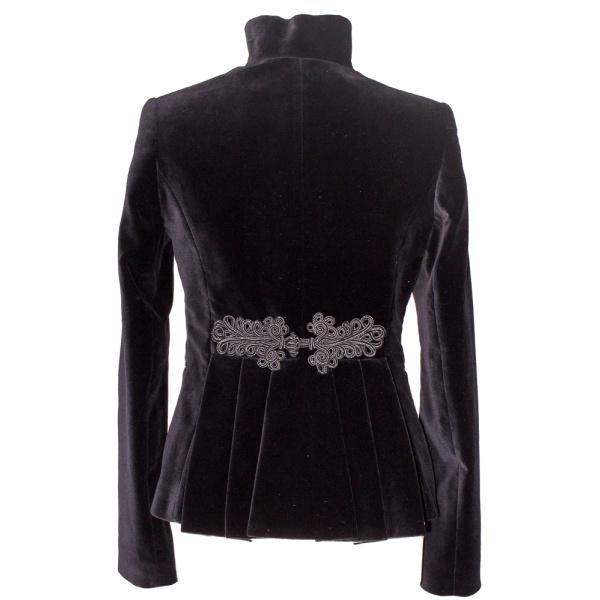 Rettl-Damen-Jacke-Victoria-hinten-samt-schwarz
