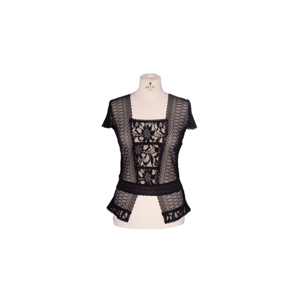 Rettl-Damen-Shirt-Kilian-Stretchspitze-schwarz-vorne