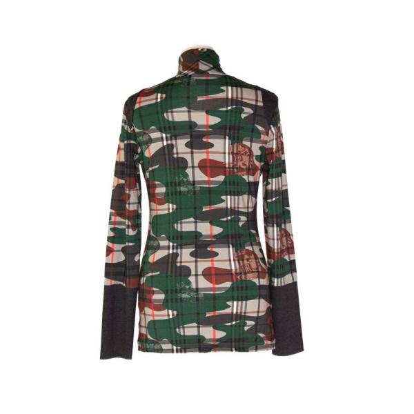 Rettl Damen Shirt Therese Karoflage grün back