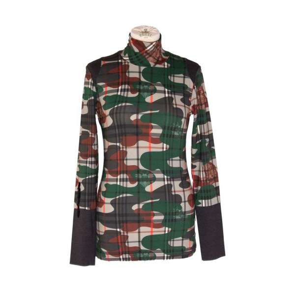 Rettl Damen Shirt Therese Karoflage grün